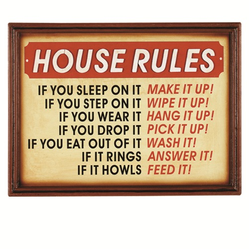RAM Game Room Pub Sign - House Rules