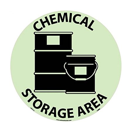 The Glow Store Inc (National Marker GWFS19 Chemical Storage Area Glow Walk on Floor )