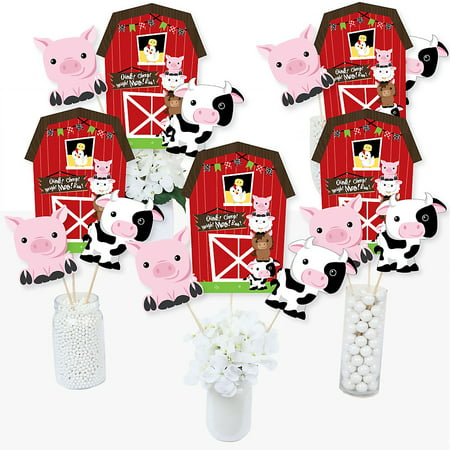 Farm Animals - Barnyard Baby Shower or Birthday Party Centerpiece Sticks - Table Toppers - Set of 15 - Bridal Shower Centerpiece Ideas