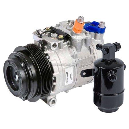 (OEM AC Compressor w/ A/C Drier For Mercedes-Benz SLK230 1998 1999)