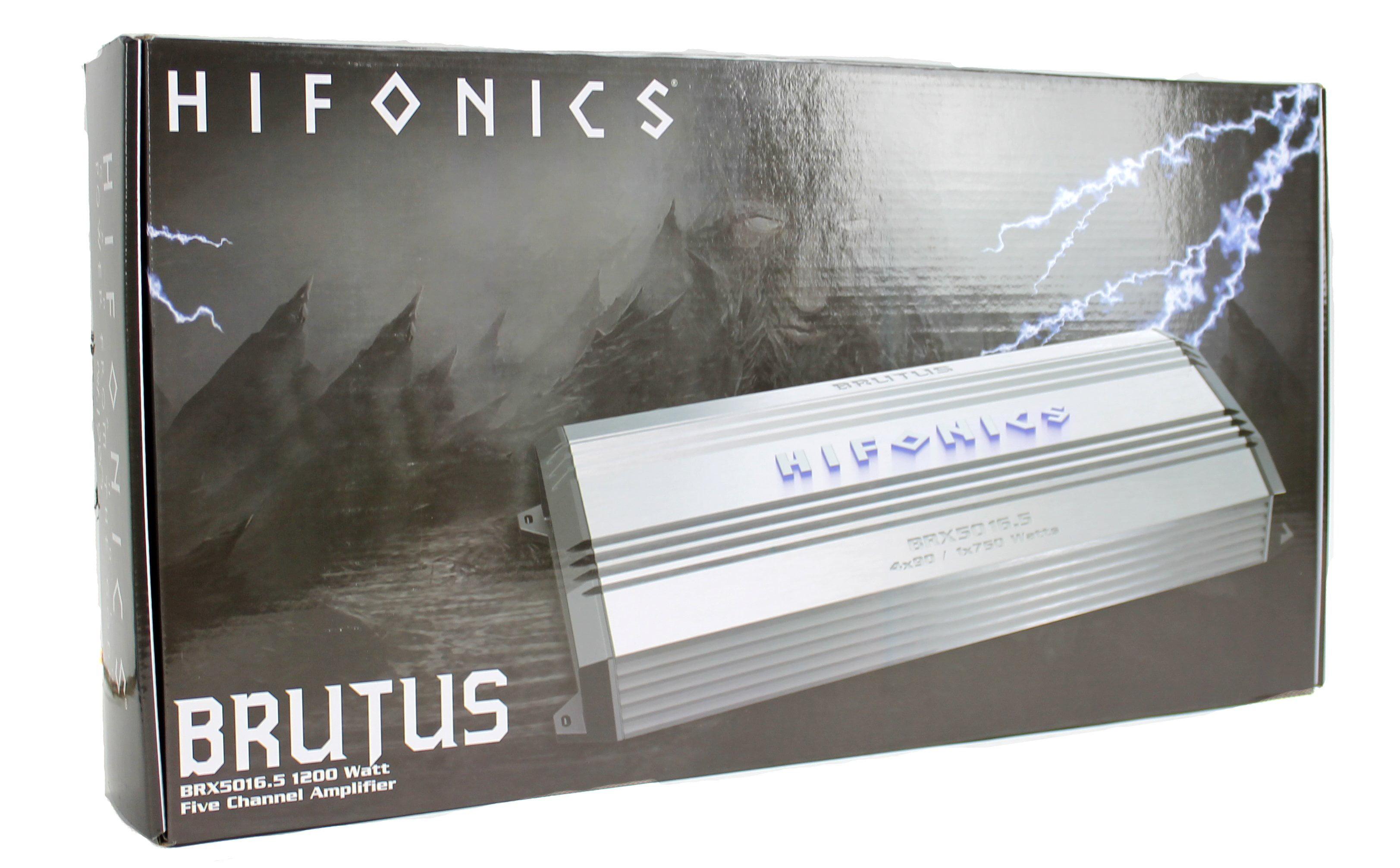 Hifonics Brutus Brx50165 1200 Watt Amp 5 Channel Car Audio 1200w Amplifier Vm 4gauge Wiring Kit