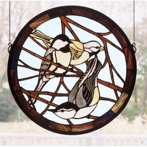 Meyda Tiffany 48607 Stained Glass Tiffany Window from the Garden Friends Collection
