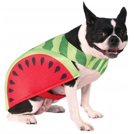 Watermelon Fruit Slice Funny Food Pet Dog Cat Halloween Costume (Dog Football Costumes Halloween)