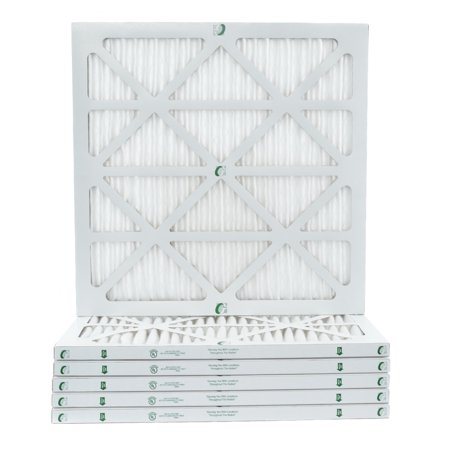 12 Pack of 24x24x1 MERV 10 Pleated Air Filters by Glasfloss. Actual Size: 23-3/8 x 23-3/8 x 7/8