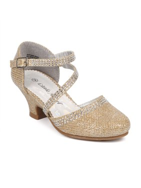 b3a1a56a28 Product Image New Girl Little Angel Daphne-856 Glitter Shimmer Rhinestone  Mary Jane Pump Size