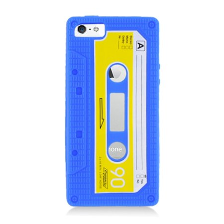 iPhone 5S case, iPhone 5C case, by Insten Cassette Tape Rubber Silicone Soft Skin Gel Case Cover For Apple iPhone 5/5C/5S (Cassette Tape Case For Iphone 4)