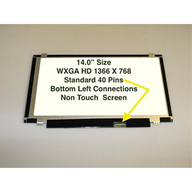 Generic Y410P 14 SLIM LED BOTTOM RIGHT WXGA HD Laptop Replacement Screen Compatible with Lenovo IDEAPAD Y410P 59399853