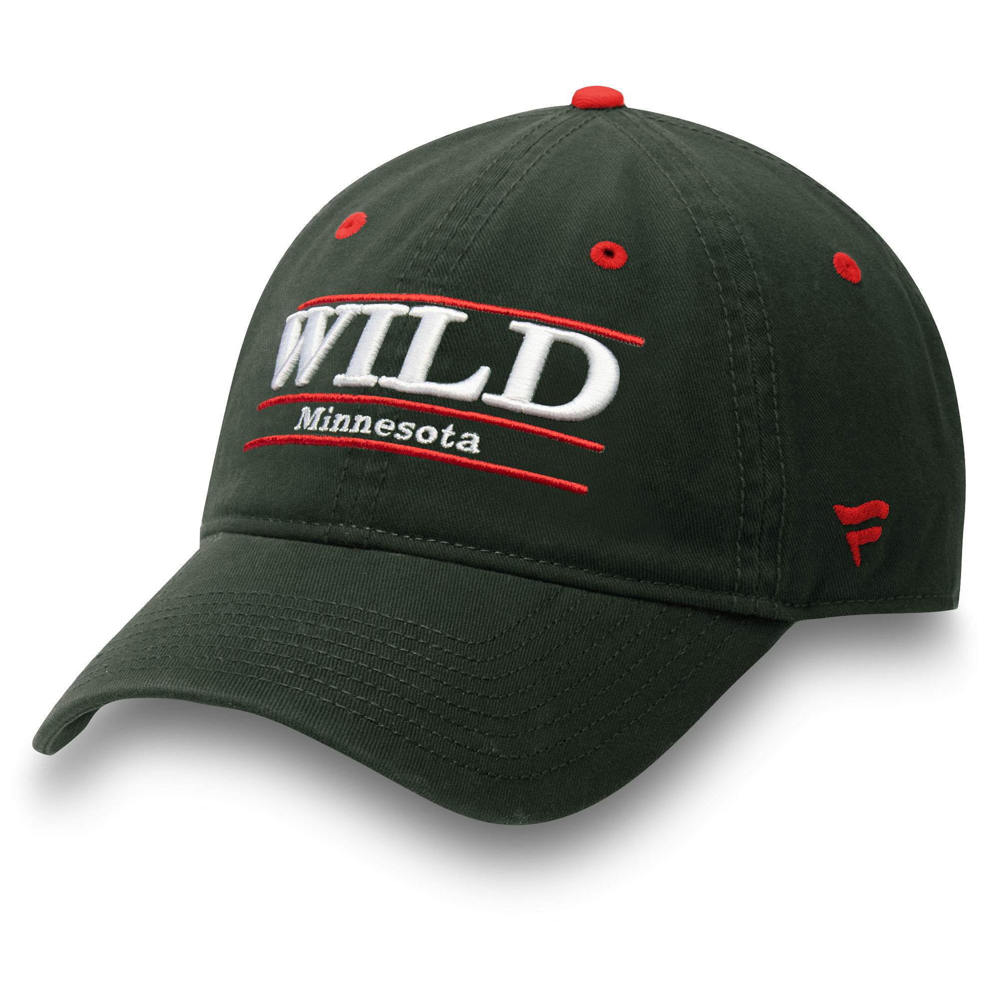 Minnesota Wild Fanatics Branded Primary Bar Adjustable Hat - Green - OSFA