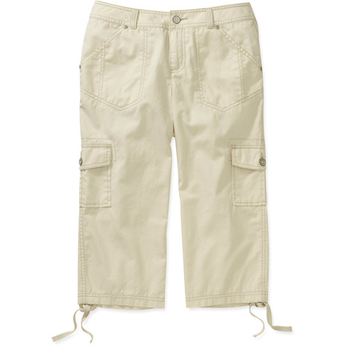 Faded Glory Womens Cargo Capri Pants - Walmart.com