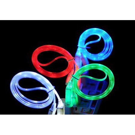 LED Light Micro USB Charger Data Sync Cable for Samsung Galaxy S6 S6 Edge Plus - Lcd Usb Cable