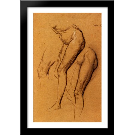 - Nude Studies Of Long Mary, Two Being Studies For Eve Tempted 26x40 Large Black Wood Framed Print Art by George Frederick Watts