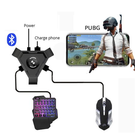 PUBG Mobile Gamepad Controller Gaming Keyboard Mouse Converter for Android Phone to PC Bluetooth Adapter Only (Best Bluetooth Keyboard For Android Phone)