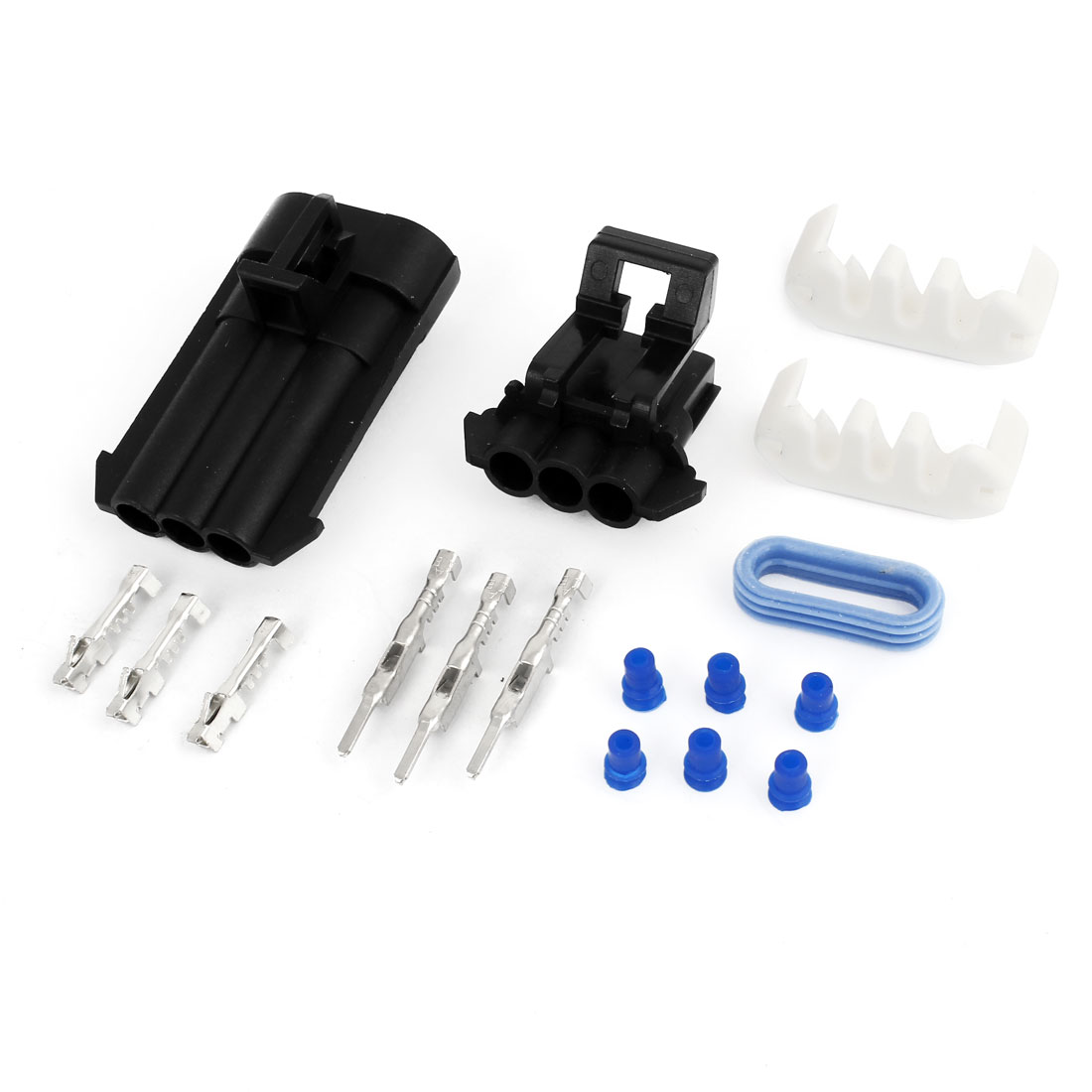 Unique Bargains Kits 3 Pin Weather Proof 3 Way Connector Car Scooter ATV UTV RV