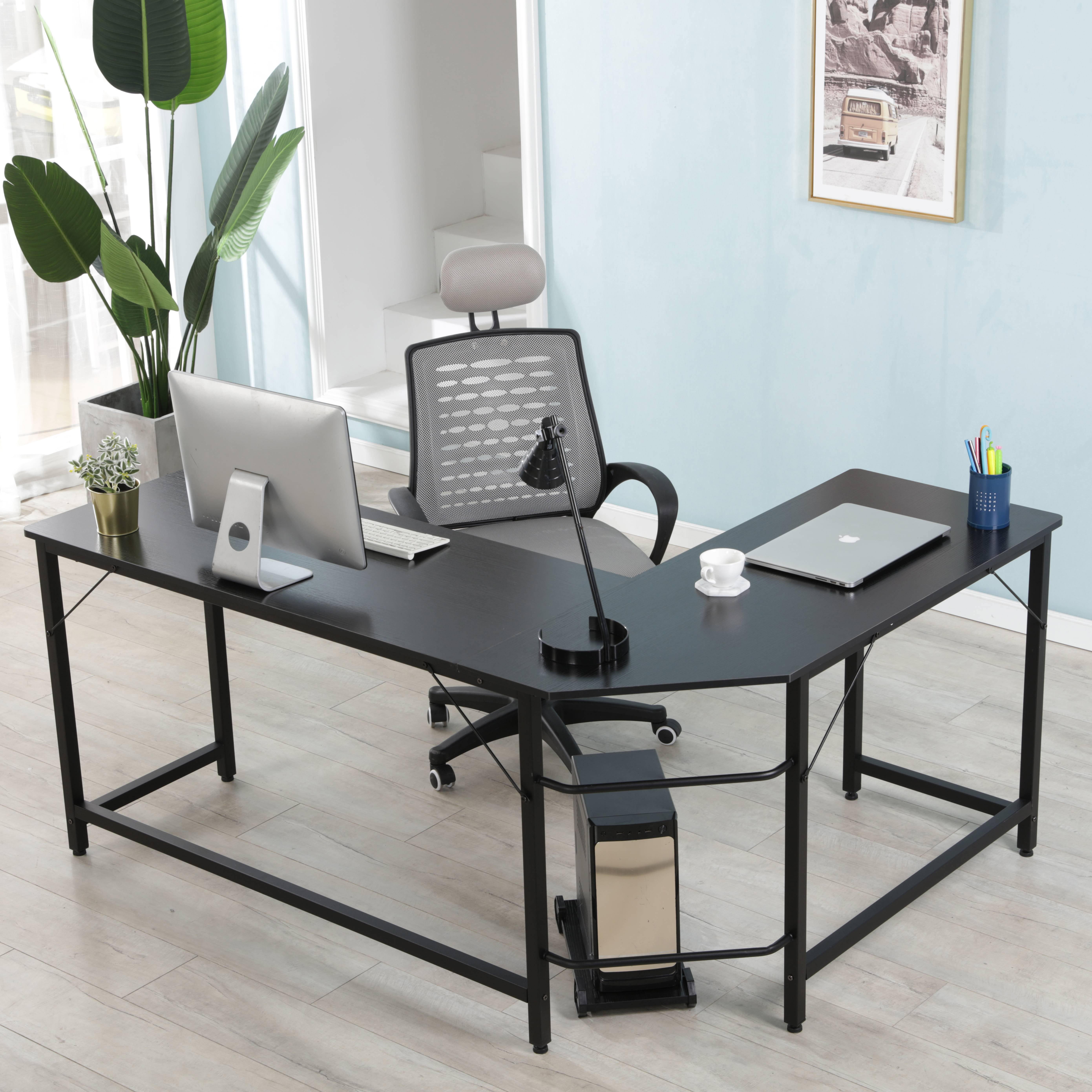 """writing desk 66"""" corner desk l shaped computer desk"""
