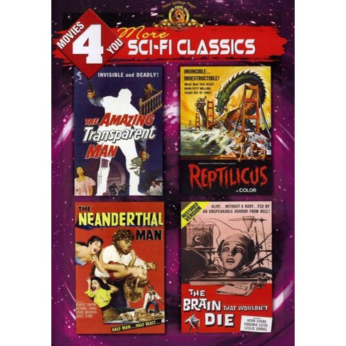 Movies 4 You: More Sci-Fi Classics - The Amazing Transparent Man / Reptilicus / The Neanderthal Man / The Brain That Wouldn't Die