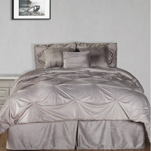 Hudson Street Pintuck Plush Comforter Set