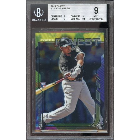 2014 Finest 22 Jose Abreu Chicago White Sox Rookie Card Bgs 9 9 9 9 95
