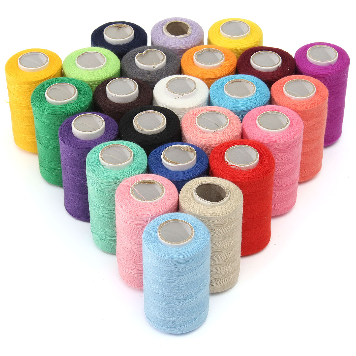 KingSo 24 Assorted Colors Polyester Sewing Thread Spool 1000 Yards Each For Machine&By Hand