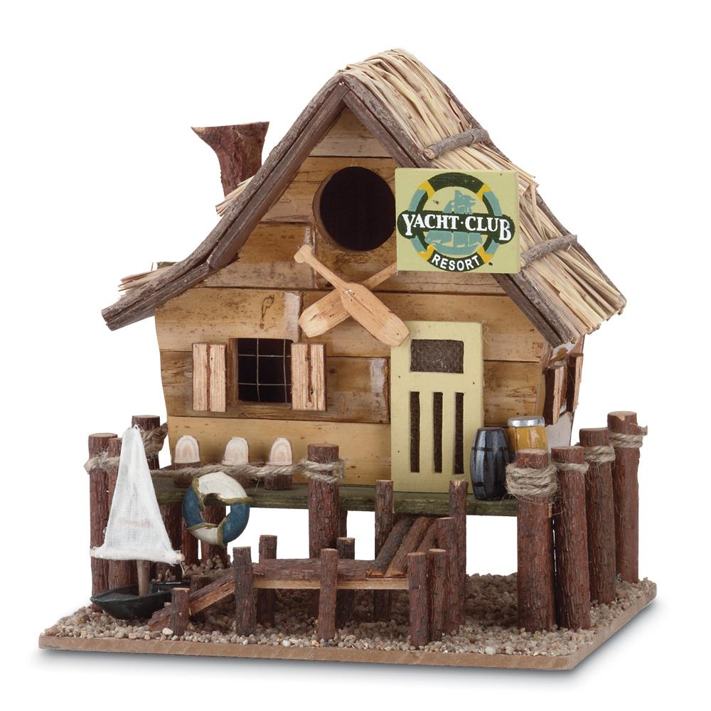 Bird Nest, Cute Birdhouse Cabin For Sparrow, Eucalyptus And Bamboo (Sold by Case, Pack of 8)