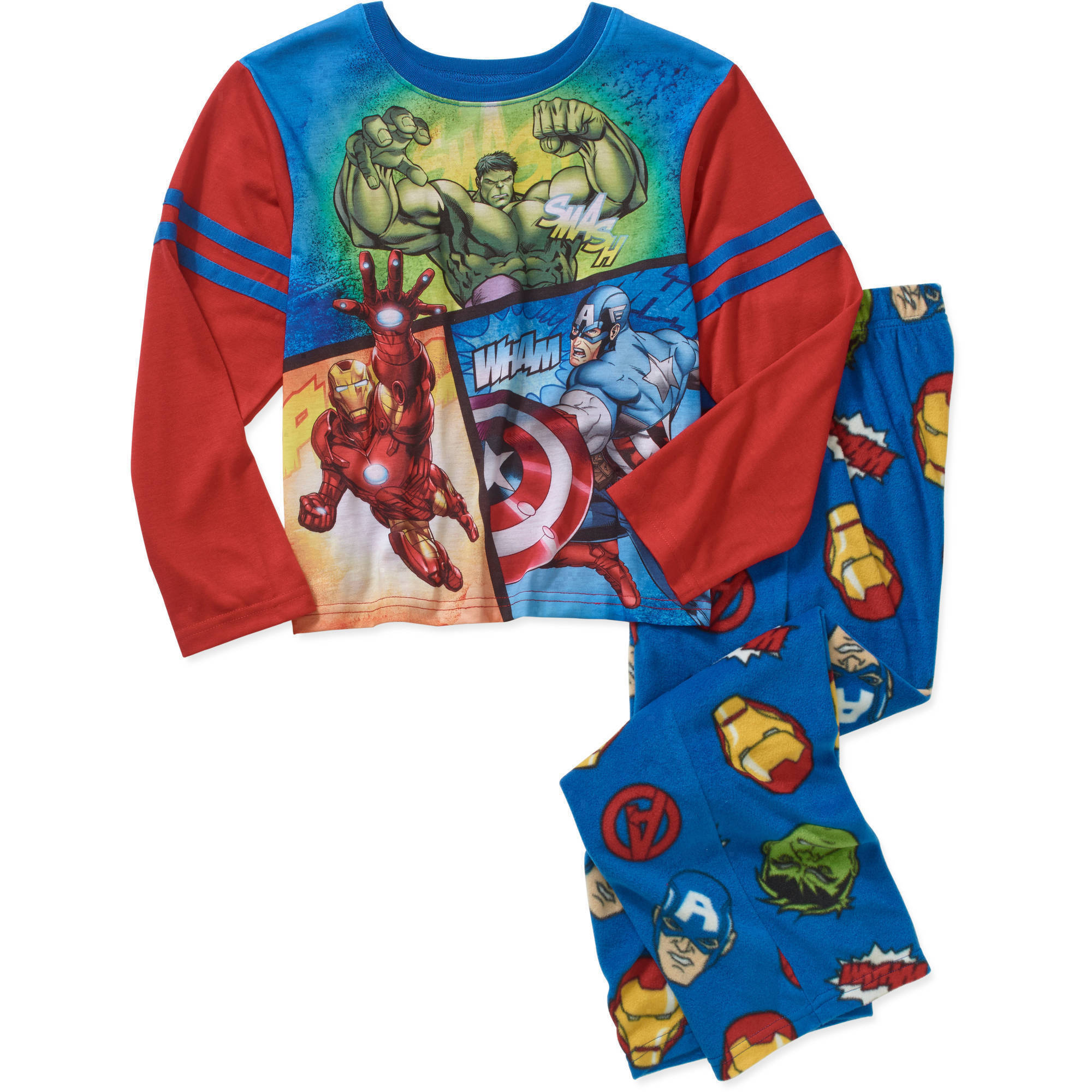 Boys' Licensed 2 Piece Poly Pajama Sleepwear Set, Available in 19 Characters