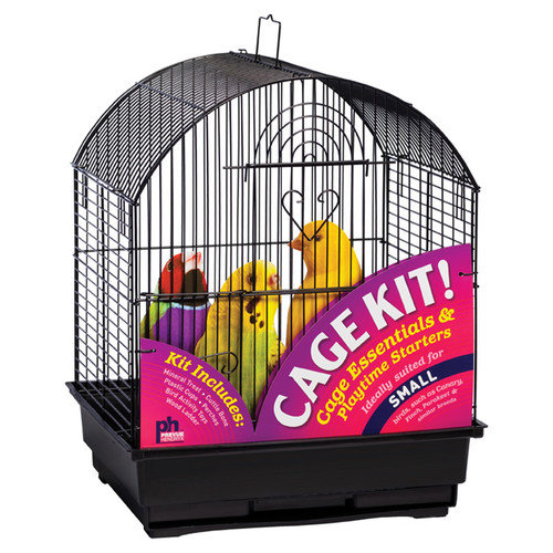 Prevue Pet Products Round Top Bird Cage Kit - Black