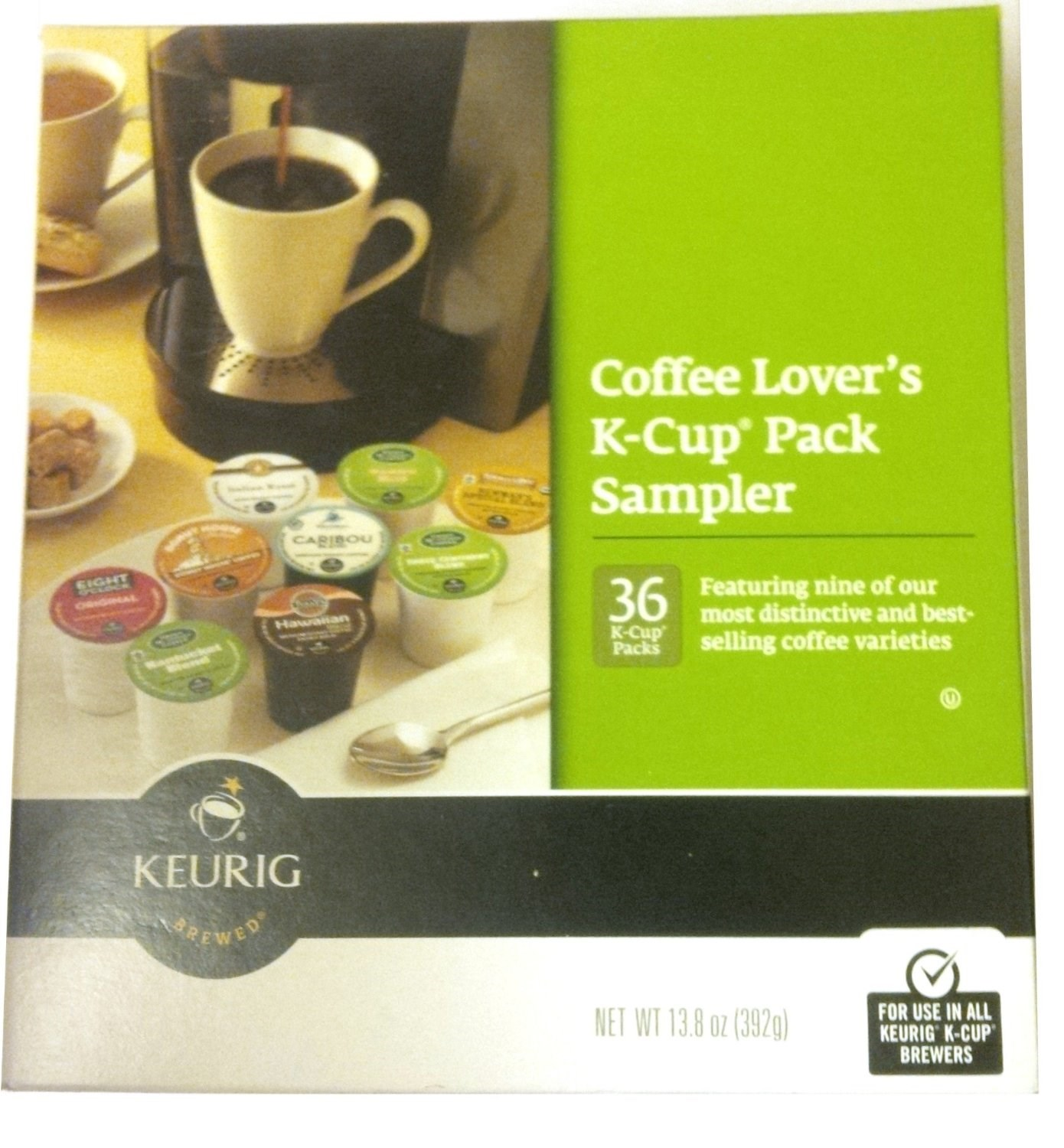 Green Mountain Roasters Gourmet Single Cup Coffee Coffee Lover's KCup Sampler, 13.8 OZ (Pack of 4)