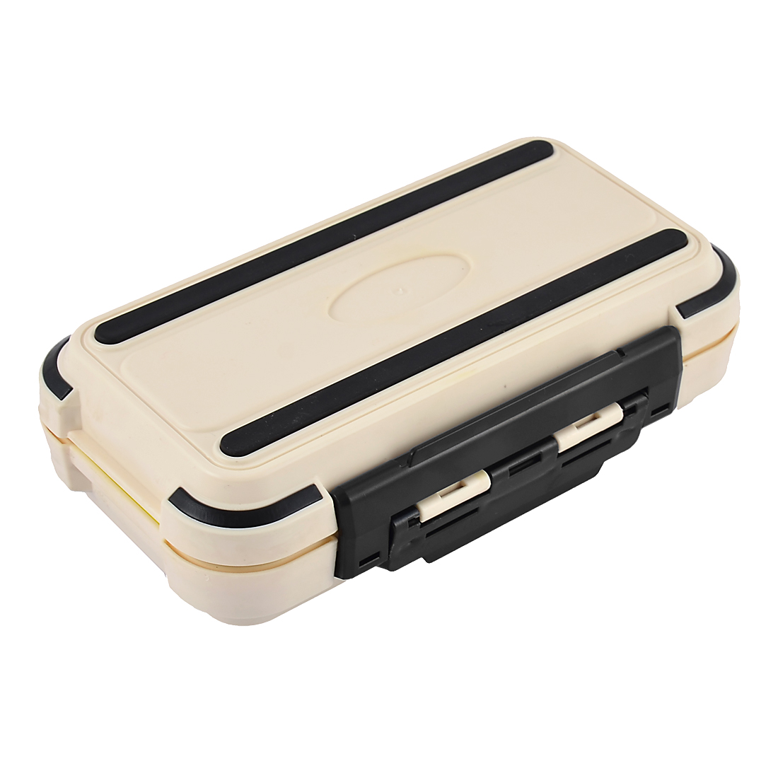 Fishing 30 Compartments Fish Hook Bait Storage Box Case Fishhook Holder Beige