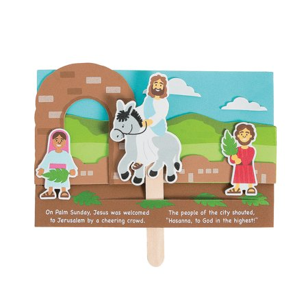 Fun Express - Jesus Enters Jerusalem ck for Easter - Craft Kits - Party Craft Kits - Toys - Easter - 12 Pieces](Easter Crafts For Toddlers)