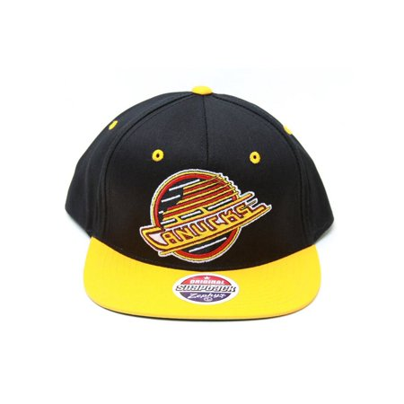 Zephyr-NHL-Vancouver Canucks Logo Black/Yellow Snapback Hat