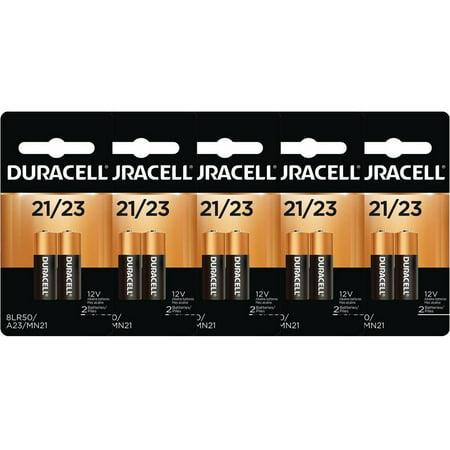 10 Pcs Duracell A23 Batteries 12V Alkaline 21 23A, A23BP, GP23, MN21, 23GA