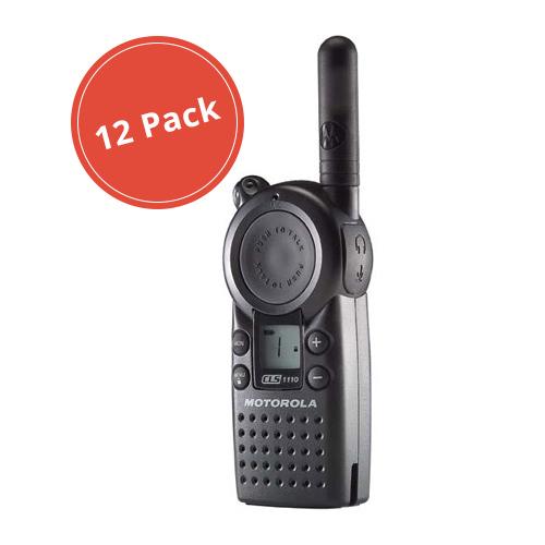 Motorola CLS1110 (12 Pack) Professional 2-Way Radio / 2 Mile Range