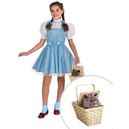 Girl's Deluxe Dorothy Wizard of Oz Costume and Deluxe Toto Basket