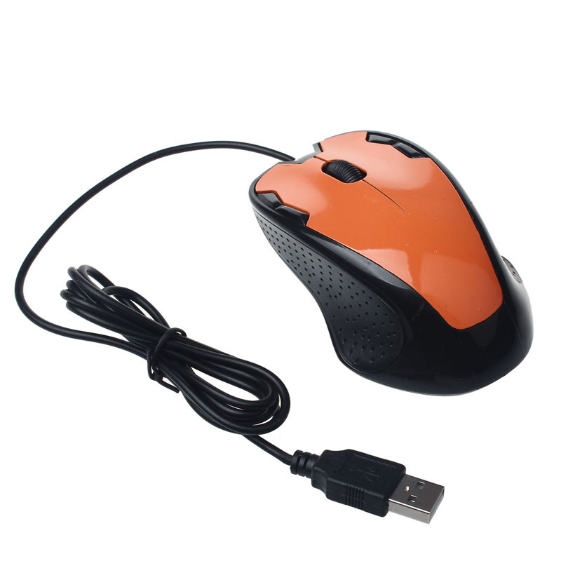 New Fashion 1800 DPI USB Wired Optical Gaming Mice Mouse For PC Laptop Red