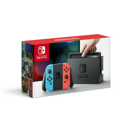 Nintendo Switch Console with Neon Blue & Red Joy-Con, HACSKABAA