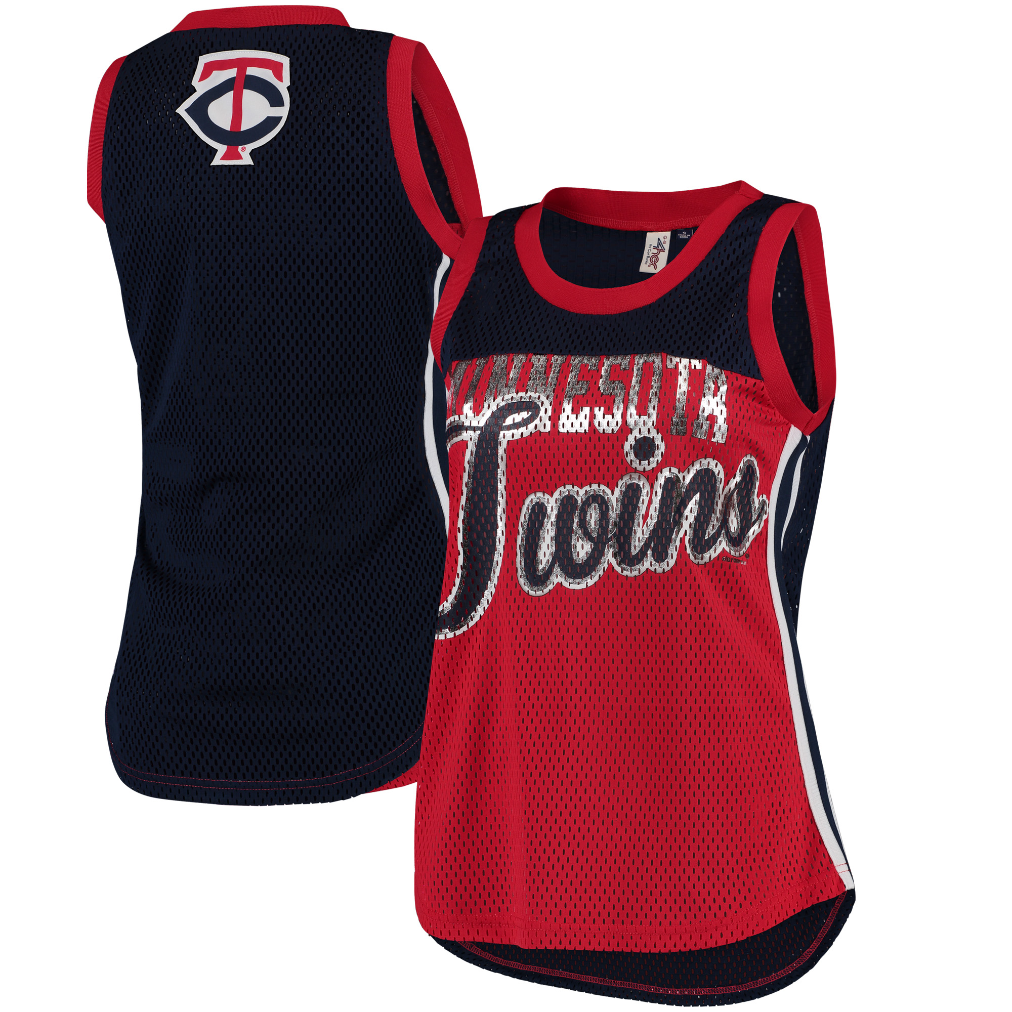 Minnesota Twins G-III 4Her by Carl Banks Women's Championship Tank Top - Red/Navy