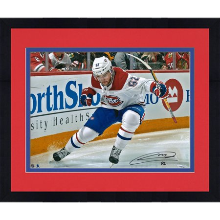 Framed Jonathan Drouin Montreal Canadiens Autographed 16   X 20   Goal Celebration Photograph   Fanatics Authentic Certified