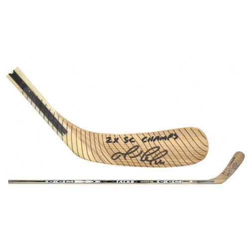 NHL - Mario Lemieux Autographed Koho Hockey Stick with 2X SC Champs Inscription