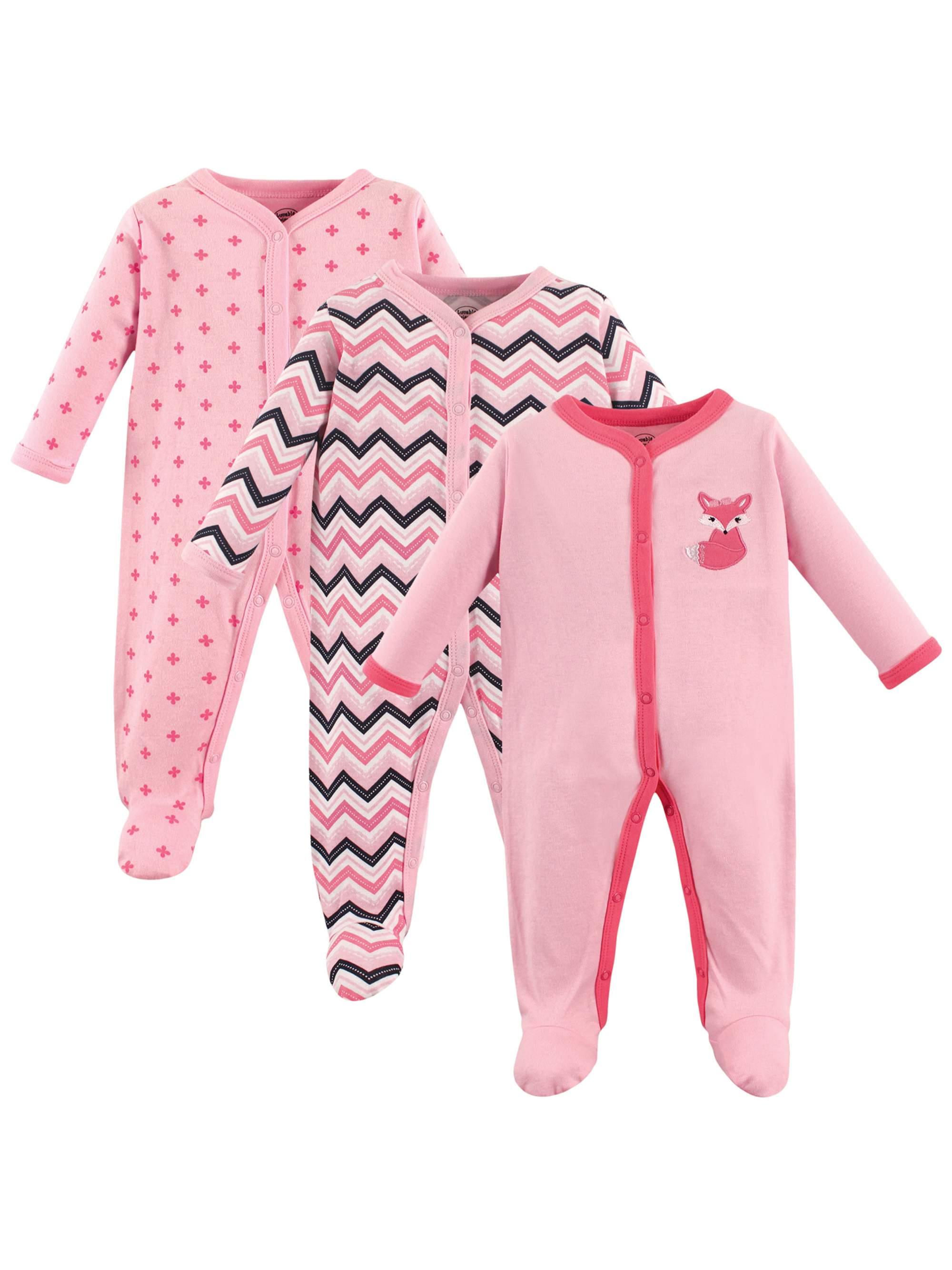 Baby Girl Sleep 'N Play, 3-pack