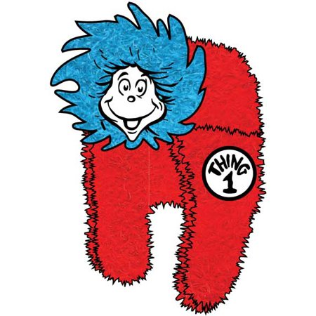 Dr. Seuss Thing 1 And Thing 2 Plush Fur Big Face Adult Trapper Hat (Dr Seuss Accessories)