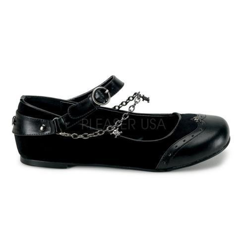 DAI07 B VEL Demonia Flats Shoes BLACK Size: 7 by
