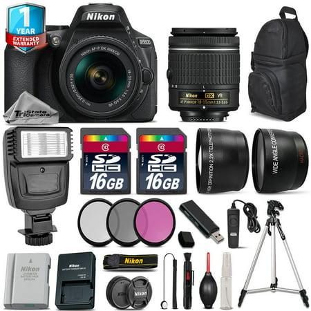 Nikon D5600 DSLR Camera + 18-55mm VR + Flash + Extra Battery + 1yr Warranty