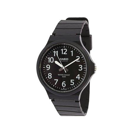 - Men's Easy To Read MW240-1BV Black Resin Japanese Quartz Fashion Watch