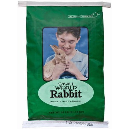 Small World Rabbit Complete Feed for Rabbits, 25 Lb - Rabbit's Foot For Sale