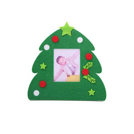 Holiday Time Non-woven Christmas Photo Frame Picture Holder Frame Xmas Tree Ornaments Gift Home Decor Christmas Photo Picture Frame