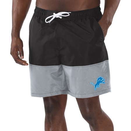 Detroit Lions G-III Sports by Carl Banks Anchor Volley Swim Trunks - Black/Gray