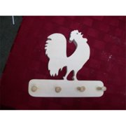 Fine Crafts 264ANI Wooden Rooster peg rack