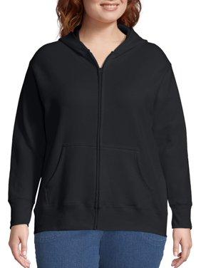 Just My Size Women's Plus Size Fleece Zip Hood Jacket