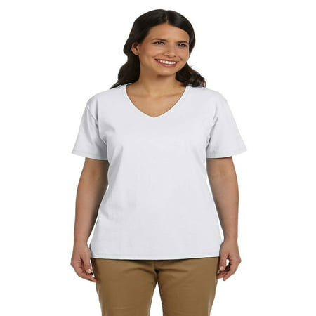 Hanes Relaxed Fit Women's ComfortSoft® V-neck T-Shirt, Style 5780 Girls Skinny Fit T-shirt