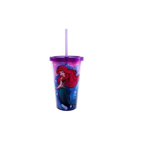 16 oz Disney Princess Ariel Cold Cups with Shell Cubes