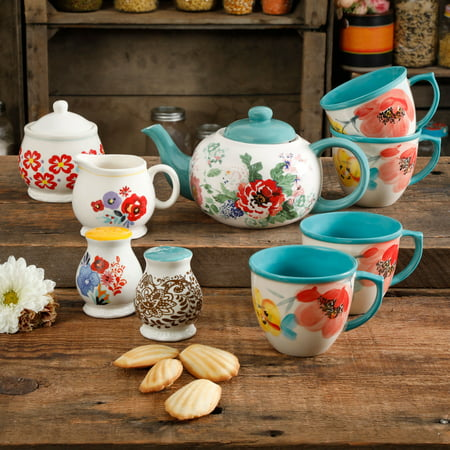 The Pioneer Woman 11-Piece Collected Tea Set - Personalized Tea Set